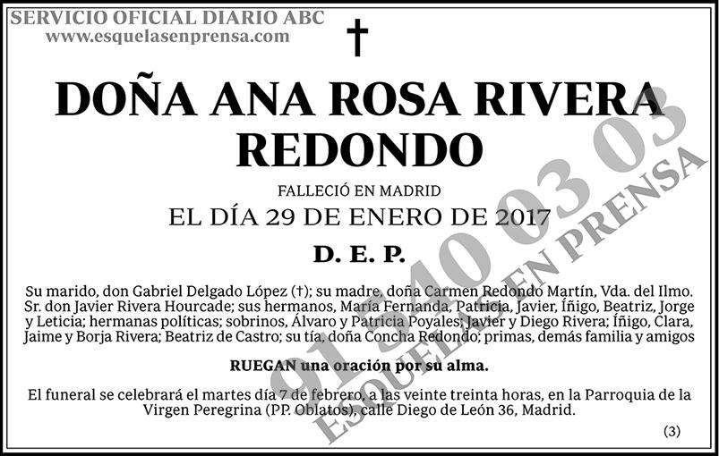 Ana Rosa Rivera Redondo